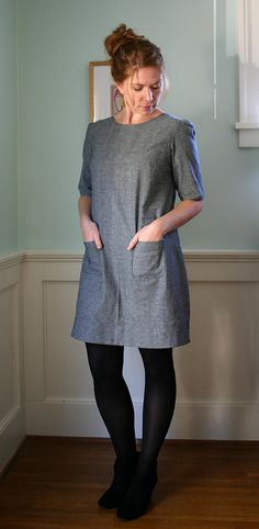 Laurel shift dress by small::bird, via Flickr Collette dress pattern - Laurel (various shift / dress / top and extra customisation options)