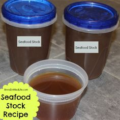 Seafood Stock Recipe; make your own seafood stock to add extra flavor to your next seafood or fish recipe with this easy Seafood Stock Recipe.  http://www.annsentitledlife.com/recipes/seafood-stock-recipe/