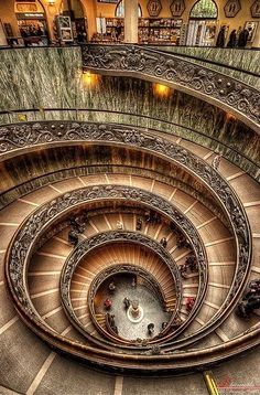 Spiral staircase in the Vatican Museum, Rome.