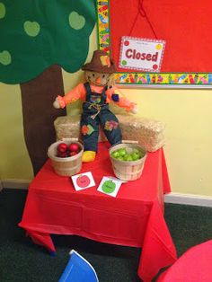 ALGEBRA AND COMMUNICATIONS: My Apple Orchard in my dramatic play center…