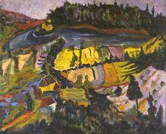 Krajobraz, oil painting, Henryk Gotlib