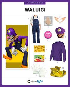 e54317ca992 Dress Like Waluigi. Luigi CostumeGot CostumesHalloween CostumesMario KartCasual  CosplaySuper Mario BrosNintendoJrVideo Games