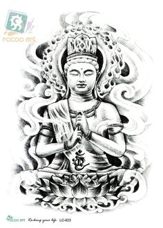 Meditating Gautama Buddha Tattoo Design
