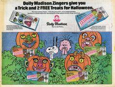Peanuts Halloween Zingers ad