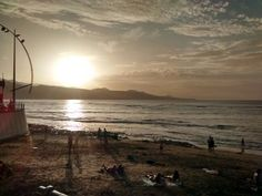 Wonderful #sunset to put an end to a 30°c clear skies/soft offshore winds/chest high waves/perfect day in #LasCanteras #beach #Surf