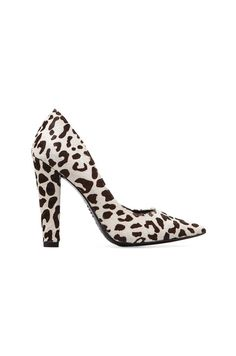 NICHOLAS Darcy Pump in Black/White Leopard//