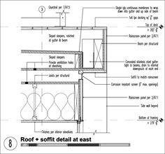 Flat roof details housing renovation flat roof for Flat roof plan drawing