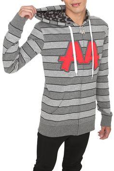 Asking Alexandria Monster Stripe Zip Sweatshirt (FRONT) so fucking amazing :) Gothic Jackets, Asking Alexandria, Birthday Wishlist, Hoodies, Sweatshirts, Hot Topic, Hooded Jacket, Zip, My Style