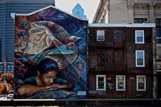The City of Philadelphia Mural Arts Program is the largest public art program in the United States. ~  Photo series by Charles Le Brigand, via Flickr #publicart #Philadelphia, #ArtonTap