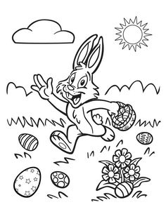 easter coloring pages four easter eggs