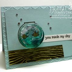 Gel-Filled Fish Bowl Embellishment: use this awesome idea for a handmade card or scrapbook layout.