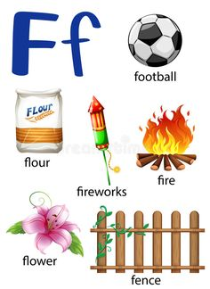 Illustration about Things that start with the letter F on a white background. Illustration of bundle, artistic, artwork - 51271646 Alphabet For Toddlers, Childrens Alphabet, Alphabet Charts, Alphabet Worksheets, Printable Alphabet, Reading Worksheets, Grammar Worksheets, Alphabet Letter Crafts, Letter F