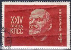Russia - Vladimir Lenin on a postage stamp, 1971.