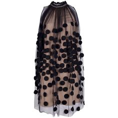 STELLA MCCARTNEY dotted gauze dress ($2,420) ❤ liked on Polyvore