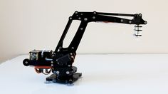 uArm is a miniature 4-axis parallel-mechanism robot arm, modeled after the ABB PalletPack IRB460 industrial robot arm. It is made up of laser cut acrylic or wood parts, powered by standard RC hobby servos, and controlled by an Arduino-compatible board. The basic design is Arduino-controlled, using 4 servos, with 4 degrees of freedom. Three servos on the base control the main movement of the arm and the last servo on the top moves and rotates the object. uArm can be controlled with keyboard…