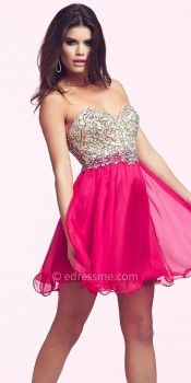 Jeweled Paisley Homecoming Dresses by Mac Duggal