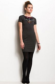 Embellished Body Con Dress