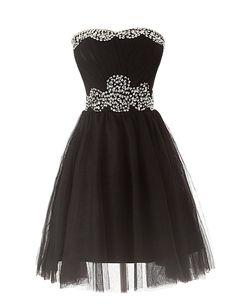 Tidetell.com Exquisite A-line Sweetheart Knee Length Organza Homecoming Dress with Beads, juniors homecoming dresses, cheap homecoming dresses, short homecoming dresses, plus size homecoming dresses, black homecoming dresses