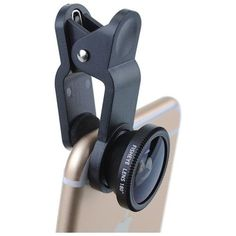 3-in-1 Clip on 180 Degree Fisheye Fish Eye Lens + Wide Angle Lens + Micro Lens Camera Phote Kits for iPhone 6 Plus 6 5 5C 5S Galaxy S5 S4 Note 4 3 HTC One M8 Sony etc. - Black|Uncategorized