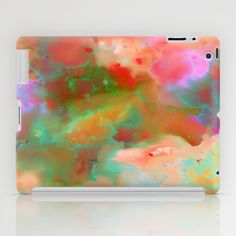 Waterscape 003 iPad Case By SchatziBrown #watercolor #abstract #pattern