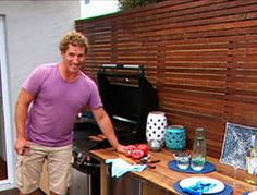 DIY: Wet bar-bbq area part 2 Ep 1 - Better Homes and Gardens - Outdoor Spaces, Outdoor Living, Lawn And Garden, Home And Garden, Garden Deco, Bbq Area, How To Make Diy, Better Homes And Gardens, Homemaking