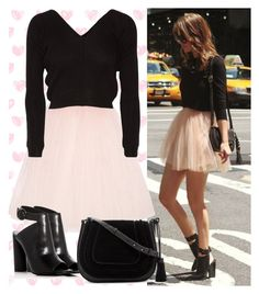 """""""Romantic Mini Skirt"""" by laurabosch on Polyvore featuring Ballet Beautiful, Kendall + Kylie and Vince Camuto"""