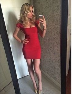 Slim Was Thin Sexy Package Hip Dress