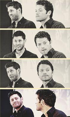 Shenanigans behind Misha's back... ;)