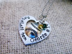 Baseball Mom hand stamped jewelry by ChristinesImpression on Etsy, $28.00