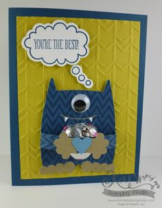 Stampin' Up Monster Hugs Valentines, You're the BEST BOY Monster