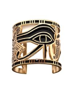Egyptian black and gold cuff