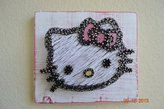 Hello Kitty string art by mkcreativecreations