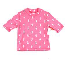 pink rashguard, swim shirt for girls, Carter's swim shirt