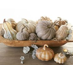 German Glitter Pumpkins | Pottery Barn