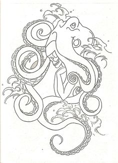 Octopus Tentacles Drawing | octopus by virtuedestroyedx traditional art drawings other 2010 2013 ...
