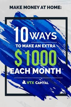 Make money at home with this list of 10 smart ways you can earn an extra $1,000 each month. Learning to make money from home has never been easier than it is right now! #makemoneyfromhome #makemoneyonline #makemoney