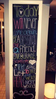 Chalk board door :)