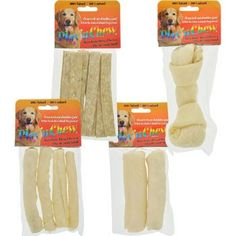Play 'n Chew Rawhide Dog Chews (Set of 8)