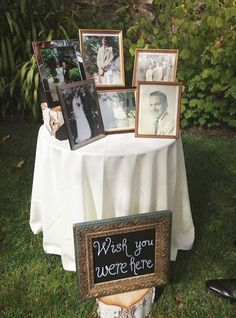 diy wedding ideas to remeber those who passed away \/
