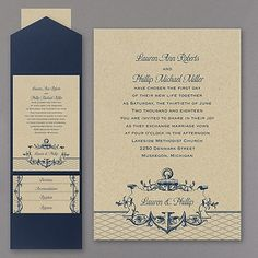 It's A Shore Thing - Pocket Wedding Invitation 40% Off http://mediaplus.carlsoncraft.com/3254-TWSN33561B-Its-A-Shore-Thing--Pocket-Invitation.pro TWSN33561B This nautical-by-nature, pocket invitation is detailed with elegance and charm. The couple's names are showcased within an anchored, scroll banner below the invitation wording.