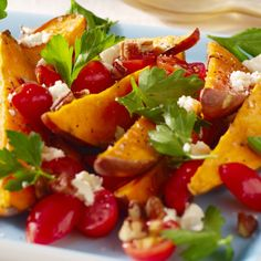 . Sweet Potato Wedges with Parsley Salad Recipe from Grandmothers Kitchen.