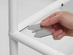 Metal Sheet Design, Sheet Metal, Metal Furniture, Furniture Design, Aluminum Fabrication, Plastic Hinges, 3d Printer Designs, Showroom Design, Assemblage