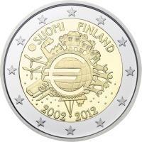 """Finland bijzondere 2 Euromunten - Finland 2 Euro 2012 """"10 jaar Euro"""""""