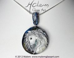 Equine Art by Malem Glass Artist Andalusian Horse, Equine Art, Glass Jewelry, Glass Art, Sculptures, Horses, Pendant Necklace, Artist, Handmade