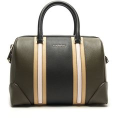 Givenchy Lucrezia Medium Tote ($2,435) ❤ liked on Polyvore featuring bags, handbags, tote bags, studded duffle bag, green tote, green duffle bag, studded tote bag and green tote bag