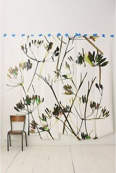 anthropologie Brushstroke Branches Mural