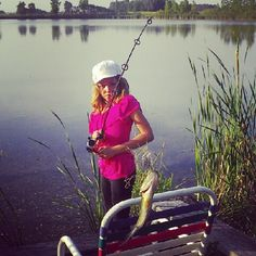 She always catches the first and biggest bass