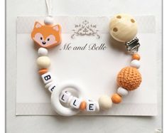 Beaded pacifier clip dummychain personalized by MeAndBelle00
