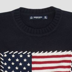 #Noth #Sails #Fall #Winter #2013 #2014 #Man #Sweater #Flag #Usa #Inlaid #Blue Man Sweater, Men's Collection, Sportswear, Fall Winter, Flag, Sweatshirts, Sweaters, Jackets, Fashion