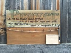 Prayer Request Board Wooden Prayer Sign By by MegAndMosClubhouse                                                                                                                                                                                 More